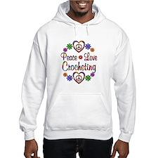 Peace Love Crocheting Jumper Hoody
