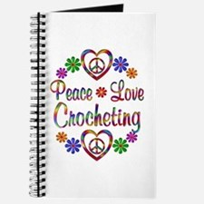 Peace Love Crocheting Journal