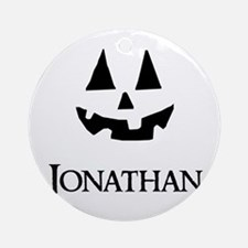 Jonathan Halloween Pumpkin face Ornament (Round)