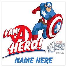 Avengers Assemble Captain America Persona Wall Art Poster
