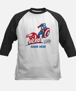 Avengers Assemble Captain Ame Kids Baseball Jersey