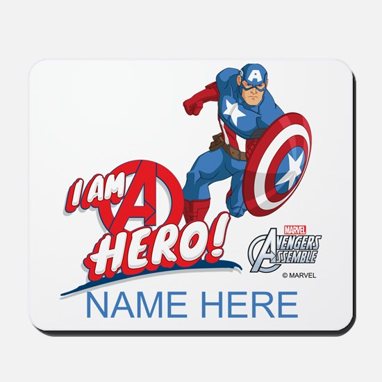 Avengers Assemble Captain America Person Mousepad