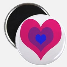 Bisexual Hearts Stacking Magnets