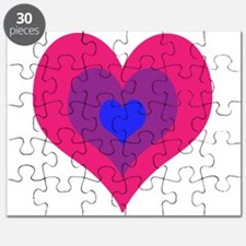 Bisexual Hearts Stacking Puzzle
