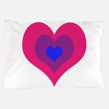 Bisexual Hearts Stacking Pillow Case