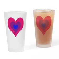 Bisexual Hearts Stacking Drinking Glass