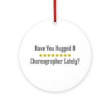Hugged Choreographer Ornament (Round)