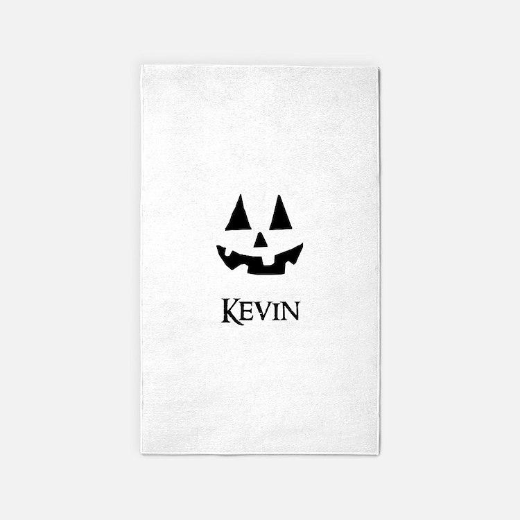 Kevin Halloween Pumpkin face 3'x5' Area Rug