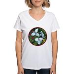 Trillium Circle Women's V-Neck T-Shirt