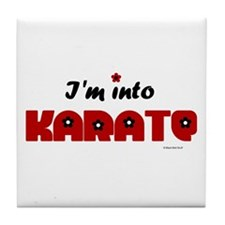 I'm Into Karate (Chick) Tile Coaster