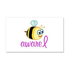 Breast Cancer Be Aware Car Magnet 20 x 12