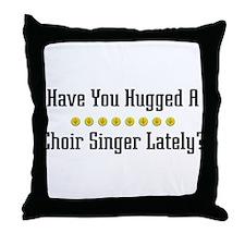 Hugged Choir Singer Throw Pillow