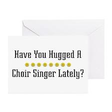 Hugged Choir Singer Greeting Cards (Pk of 10)