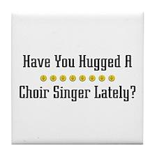 Hugged Choir Singer Tile Coaster