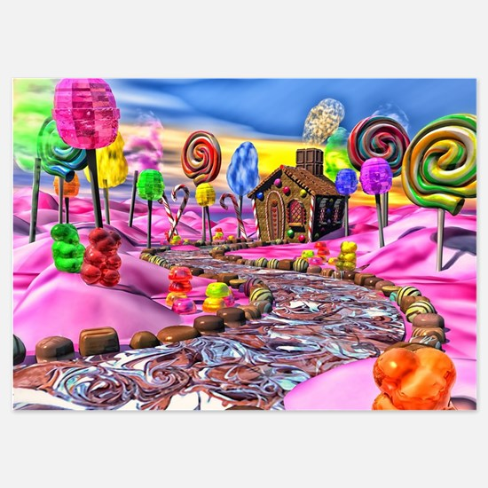 Pink Candyland 5x7 Flat Cards