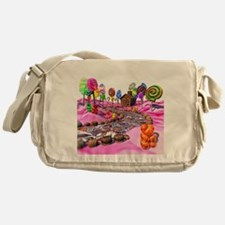 Pink Candyland Messenger Bag