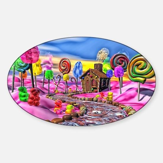 Pink Candyland Sticker (Oval)