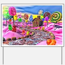 Pink Candyland Yard Sign