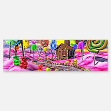 Pink Candyland Bumper Bumper Sticker