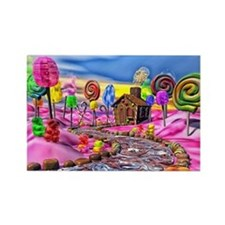 Pink Candyland Rectangle Magnet