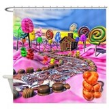 Christmas candy Shower Curtains