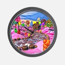 Pink Candyland Wall Clock