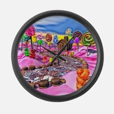 Pink Candyland Large Wall Clock