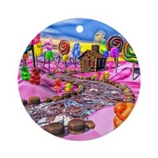 Pink Candyland Ornament (Round)