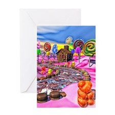 Pink Candyland Greeting Card