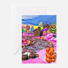 Pink Candyland Greeting Card