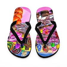 Pink Candyland Flip Flops