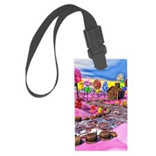 Pink Candyland Luggage Tag
