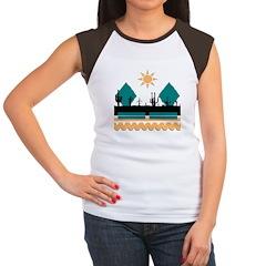 Cactus Sunrise Women's Cap Sleeve T-Shirt
