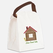 Home Sweet Cabin Canvas Lunch Bag