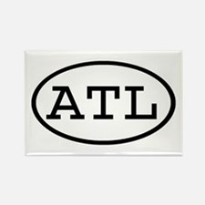 ATL Oval Rectangle Magnet