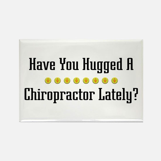 Hugged Chiropractor Rectangle Magnet
