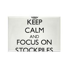 Keep Calm and focus on Stockpiles Magnets