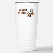 What up, my knitta? Travel Mug