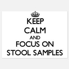 Keep Calm and focus on Stool Samples Invitations