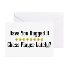 Hugged Chess Player Greeting Cards (Pk of 10)