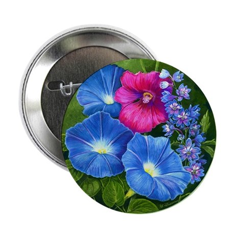 """Morning Glory 2.25"""" Button (10 pack)"""