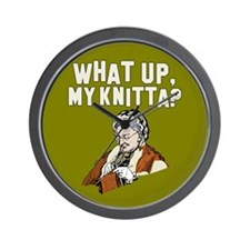 What up, my knitta? Wall Clock