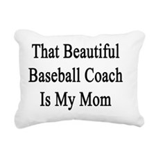 That Beautiful Baseball  Rectangular Canvas Pillow