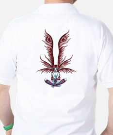 Red Winged Fae Golf Shirt