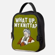 What up, my knitta? Neoprene Lunch Bag