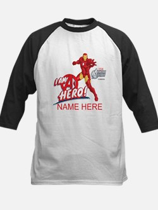 Avengers Assembled Iron Man P Kids Baseball Jersey