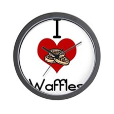 I love-heart waffles Wall Clock