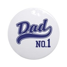 No.1 Dad Ornament (Round)