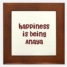 happiness is being Anaya Framed Tile
