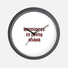 happiness is being Anaya Wall Clock